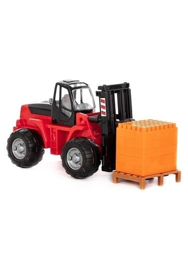 Polesie Polesie 36766 Oyuncak Paletli Forklift (30 Tasatım Parçalı Süper Mix) Kırmızı Renkli